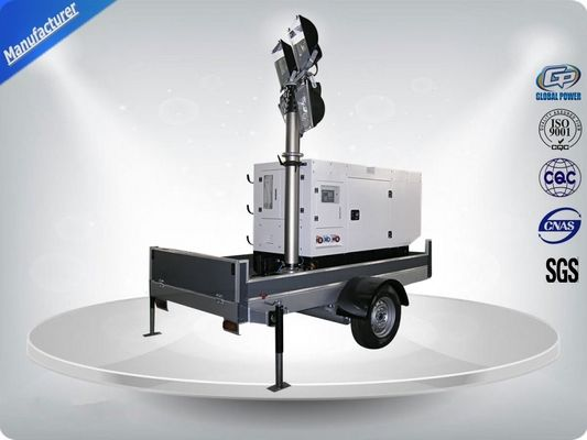 ประเทศจีน Single Phase Generator Mobile Light Tower Trailer With Manual Operated Mast ผู้จัดจำหน่าย
